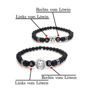 black lion silver partnerarmband