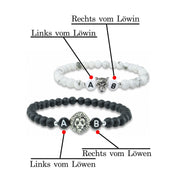 black white lion partnerarmband