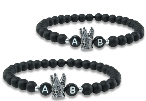 black crown partnerarmband