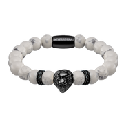 howlith lion black herrenarmband