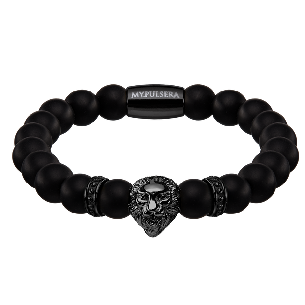 onyx lion black herrenarmband