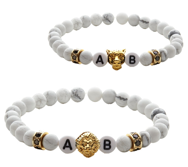 white lion gold partnerarmband