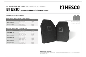 Hesco Special Threat Armor U210 Multi-Curve - VerTac Training and Gear