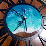 Hand Painted Resin Ocean Clock 12""