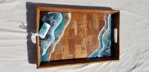 Solid Wood Ocean Tray (RESERVED)