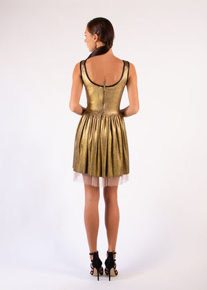 Cocktail Gold Coated Dress