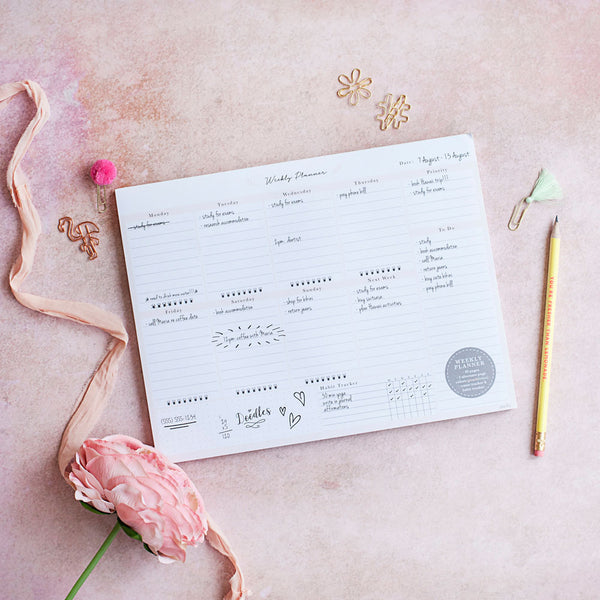 Fern - Weekly Planner Notepad - Peachly Australia