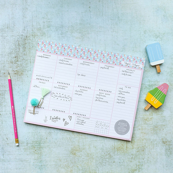 Ice Cream - Weekly Planner Notepad - Peachly Australia