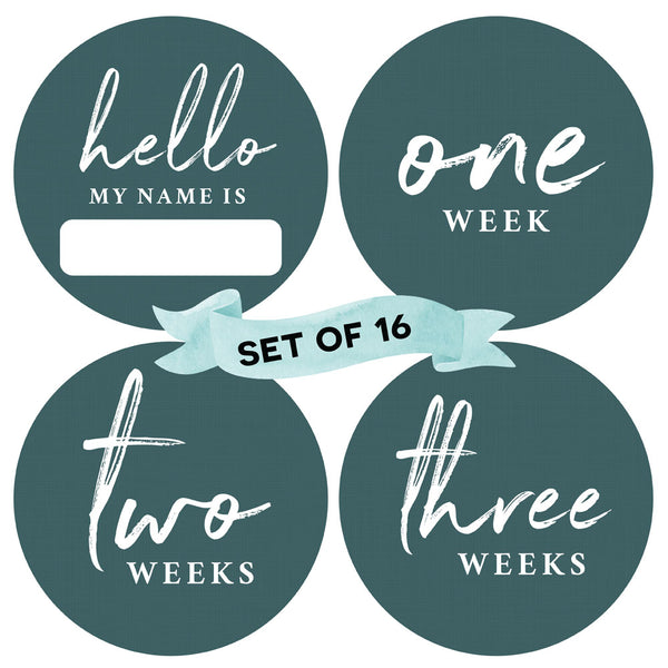 Forest Green - Baby Milestone Stickers - Peachly Australia