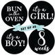 Pregnancy Milestone Stickers (Set of 40)