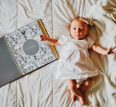 Scandi - Baby Record Book - Peachly Australia