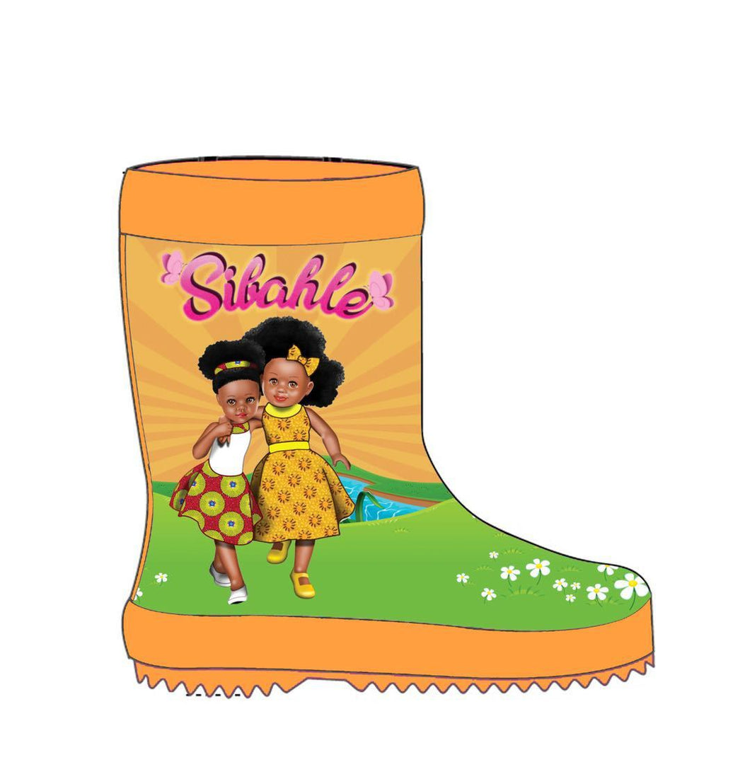 We Love Orange Wellingtons - Sibahle Collection