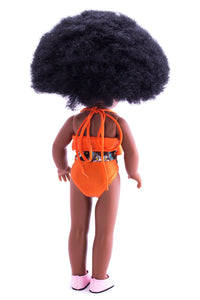 Nobuhle Swimsuit Orange - Sibahle Collection