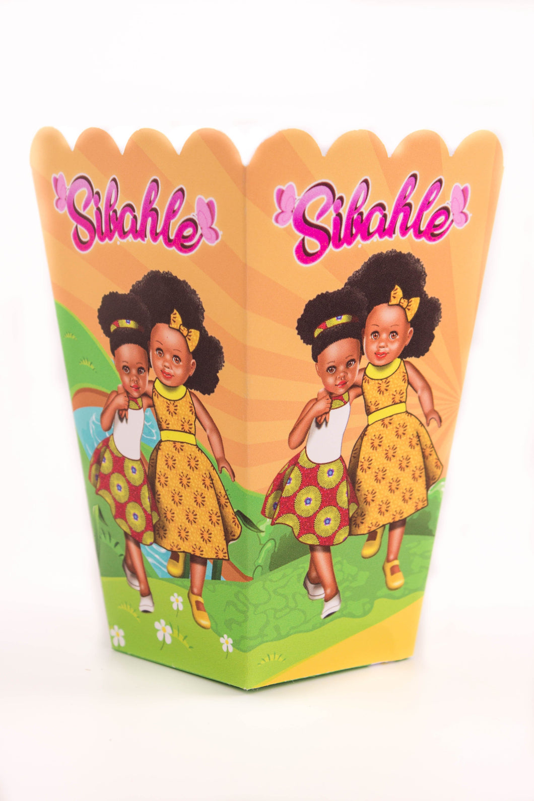 Sunshine Yellow Party Popcorn Box - Sibahle Collection