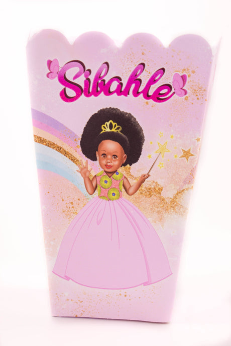 Pretty In Pink Party Popcorn Box - Sibahle Collection