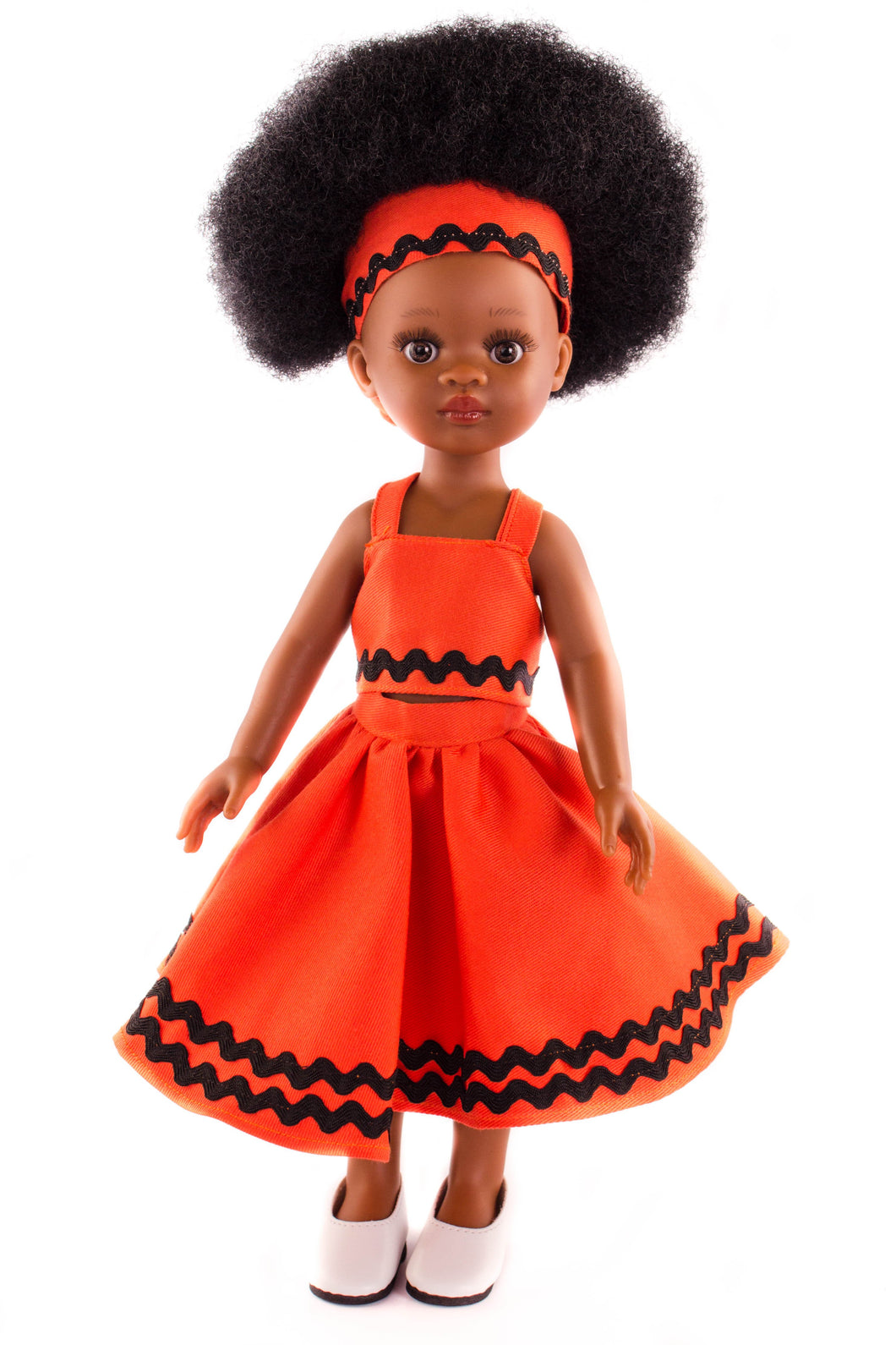 Xhosa Dress Orange Stripe - Sibahle Collection