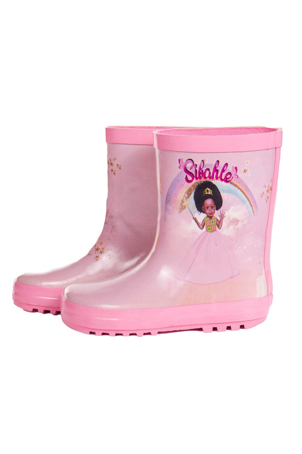Pretty In Pink Wellingtons - Sibahle Collection