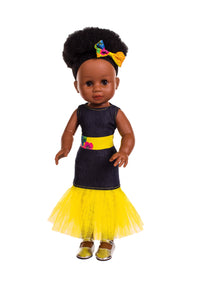 Nobuhle Denim Dress Yellow - Sibahle Collection