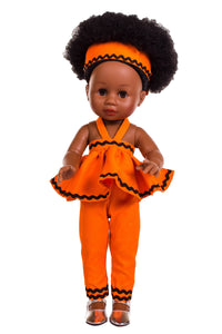 Nobuhle Jumpsuit Orange - Sibahle Collection