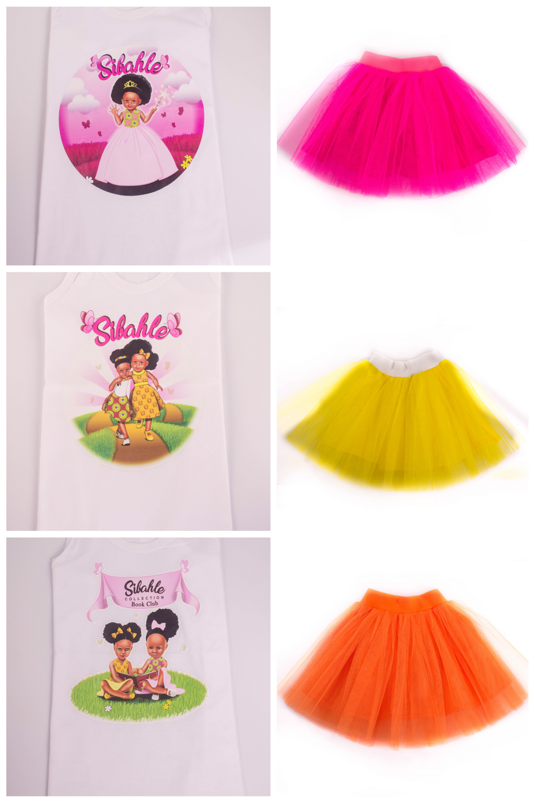 Nobuhle and Bontle Vest with Tutu Skirt - Sibahle Collection