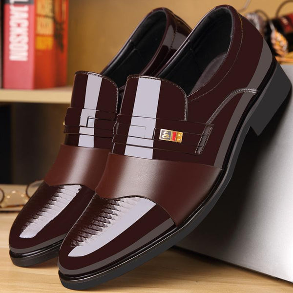 Men's Cusiness Dress Invisible Increased 6CM Leather Shoes