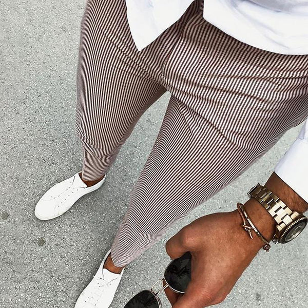 New Men's Casual Plaid Pants