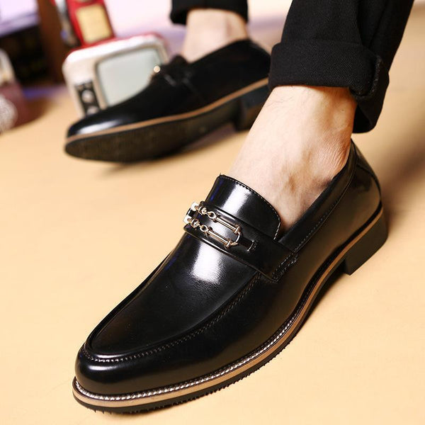 Casual Fashion Pointed Head PU Leather Business Shoes