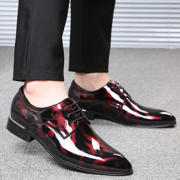 Fashion Pointed Head Strappy Patent Leather Shoes