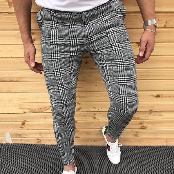 British Style Slim Fit Check Pants