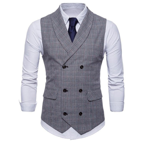 Fashion Casual Double-Breasted Suit Vests