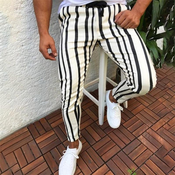 Fashion Striped Feet Casual Pants