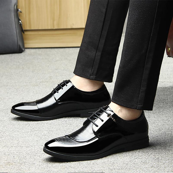 Men's Glossy Business Dress With Casual Shoes