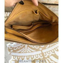Load image into Gallery viewer, CHANTILLY LEATHER BOHO CLUTCH/SHOULDERBAG-Clutch/Purse-Dreamtime Boho-Mustard-Dreamtime Boho