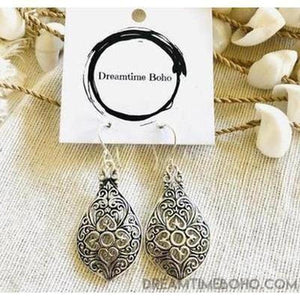 BOHEMIAN STERLING SILVER FILIGREE EARRINGS GYPSY BOHO-BOHEMIAN SILVER EARRINGS-Dreamtime Boho-Dreamtime Boho