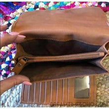 Load image into Gallery viewer, EMILEE HAND CARVED LEATHER BOHO WALLET PURSE-Leather Wallet-Dreamtime Boho-Dreamtime Boho