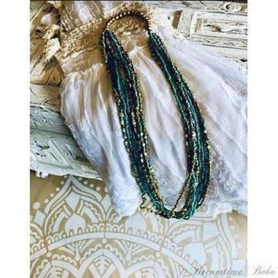 BOHEMIAN BELLA NECKLACE-Beaded Bohemian Necklace-Dreamtime Boho-Dreamtime Boho