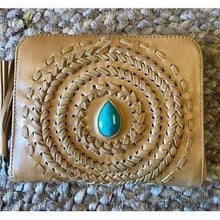 "Load image into Gallery viewer, ""FREESPIRIT"" LEATHER WALLET-Leather Wallet-Dreamtime Boho-Dreamtime Boho"