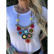 Load image into Gallery viewer, Crochet Necklace - Multi colour-Dreamtime Boho -Dreamtime Boho