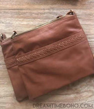 Load image into Gallery viewer, COASTAL LEATHER CROSS BODY BAG-Leather Crossbody Bag-Dreamtime Boho-Brown-Dreamtime Boho