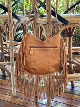Load image into Gallery viewer, AZTEC EAGLE FRINGED LEATHER BOHO BAG-Boho Fringe Bag-Dreamtime Boho-Dreamtime Boho