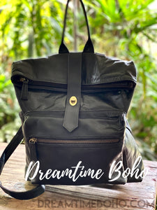 ANALESE LEATHER BACKPACK-Backpack-Dreamtime Boho-black-Dreamtime Boho