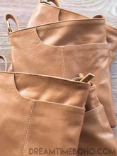 Load image into Gallery viewer, LEATHER CROSS BODY BELLA BAG-Crossbody Bag-Dreamtime Boho-TAN-Dreamtime Boho