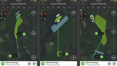 How well do Arccos Caddie users play Augusta National?