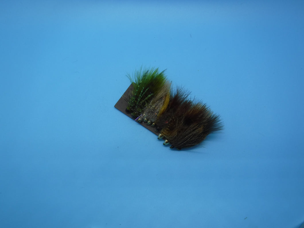 SALE Misc. Bugger/Leech Selection Fly Kit(12 Flies)