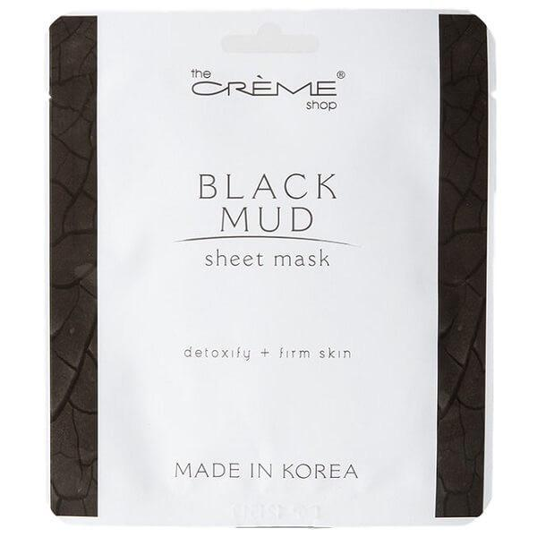 black-mud-sheet-mask-creme-shop-face-mask