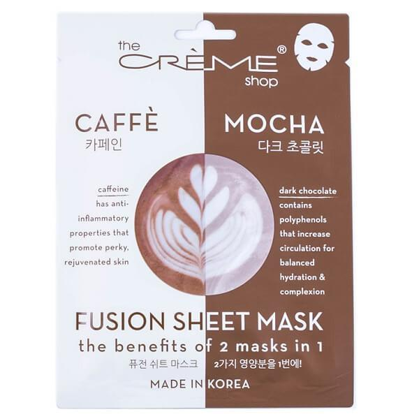 Caffeine & Dark Chocolate Sheet Mask - the creme shop - facial mask