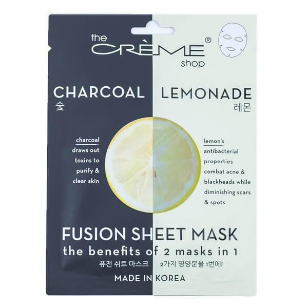 Charcoal & Lemon Sheet Mask - the creme shop - facial mask