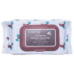 coconut oil cleansing towelettes- the crème shop - facial cleansers