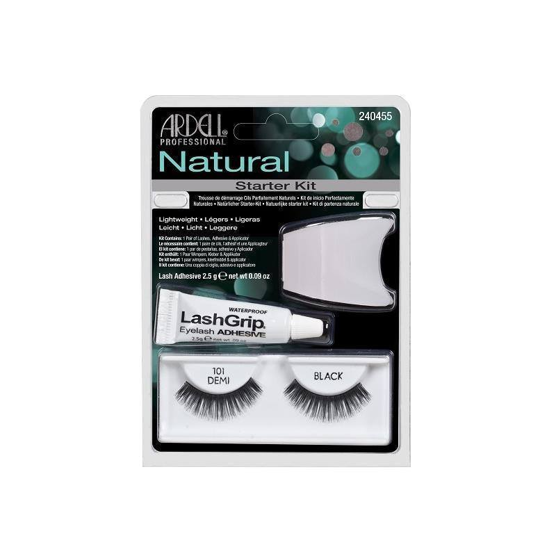 natural 101 demi black starter kit - ardell - lashes