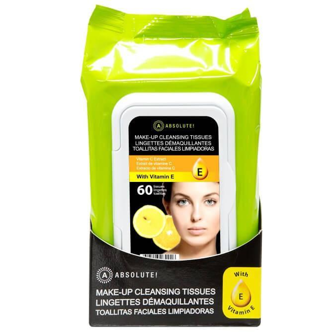 Makeup Cleansing Tissue 60 Pack Lemon - Absolute New York - Cleansing Tissue